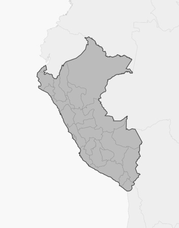 americas: Map of Peru and nearby countries, Peru is highlighted in gray.