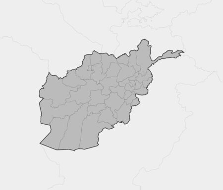 frontier: Map of Afghanistan and nearby countries, Afghanistan is highlighted in gray.