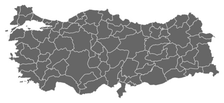 west asia: Map of Turkey as a dark area.