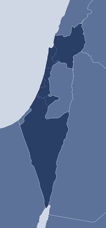 west asia: Map of Israel and nearby countries, Israel is highlighted.