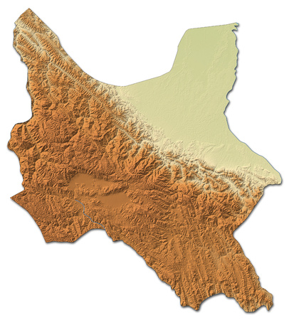 cochabamba: Relief map of Cochabamba, a province of Bolivia, with shaded relief.