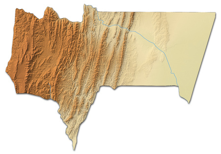 Relief map of Tarija, a province of Bolivia, with shaded relief.