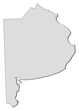 americas: Map of Buenos Aires, a province of Argentina.