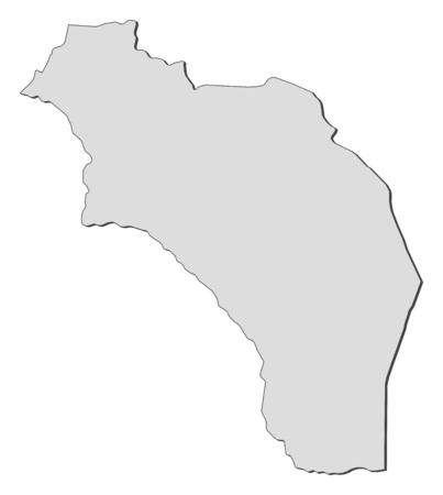 Map of La Rioja, a province of Argentina.