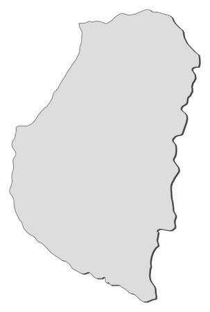 Map of Entre R?os, a province of Argentina.