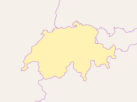Map of Swizerland and nearby countries, Swizerland is highlighted.
