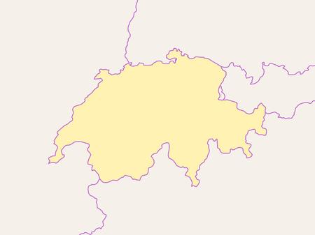 Carte de Swizerland et les pays voisins, Swizerland est mis en évidence.