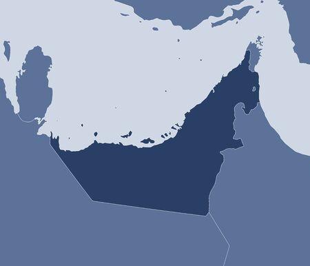 united arab emirate: Map of United Arab Emirates and nearby countries, United Arab Emirates is highlighted.