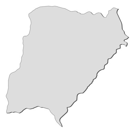 Map of Corrientes, a province of Argentina.