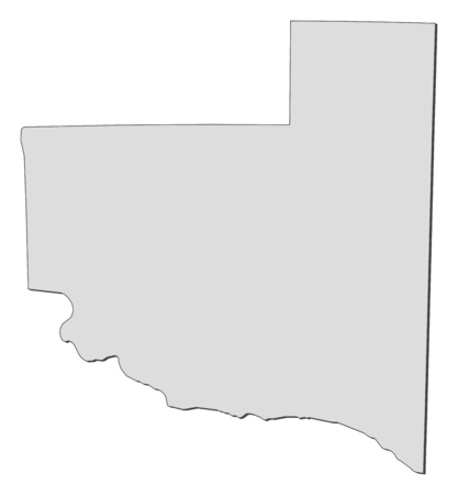 Map of La Pampa, a province of Argentina.