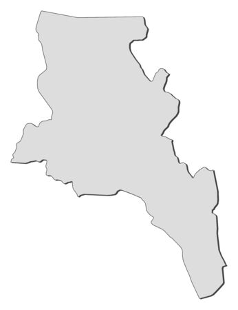 Map of Catamarca, a province of Argentina.