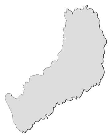 Map of Misiones, a province of Argentina.
