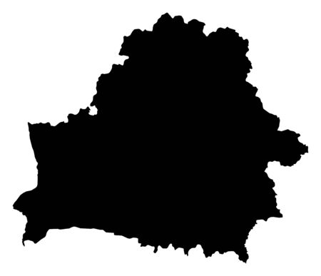Map of Belarus in black.