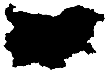 Map of Bulgaria in black.