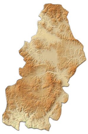 Relief map of Francisco Morazan, a province of Honduras, with shaded relief.