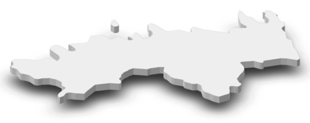 Map of Harju, a province of Estonia, as a gray piece with shadow.