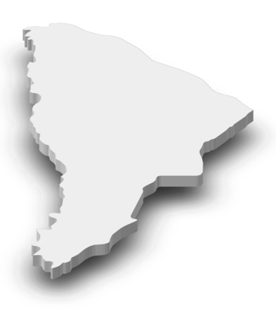 afar: Map of Afar, a province of Ethiopia, as a gray piece with shadow.