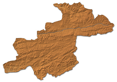 shady: Relief map of Ghor, a province of Afghanistan, with shaded relief.