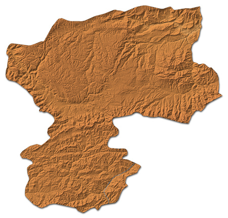 Relief map of Bamyan, a province of Afghanistan, with shaded relief.