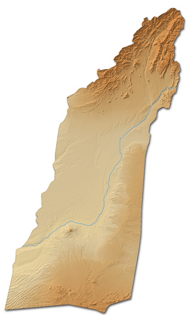 Relief map of Helmand, a province of Afghanistan, with shaded relief.