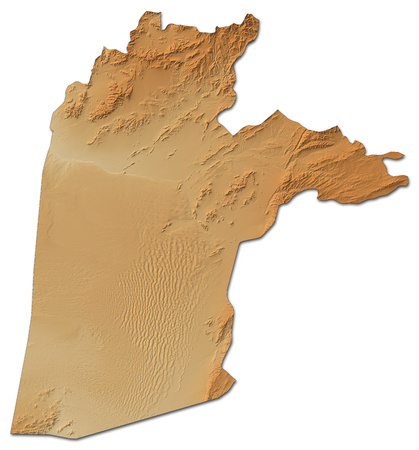 Relief map of Kandahar, a province of Afghanistan, with shaded relief. Stock Photo