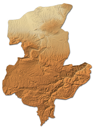 shaded: Relief map of Sar-e Pol, a province of Afghanistan, with shaded relief.
