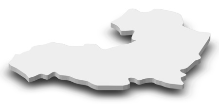 Map of Aragatsotn, a province of Armenia, as a gray piece with shadow. Stock Photo