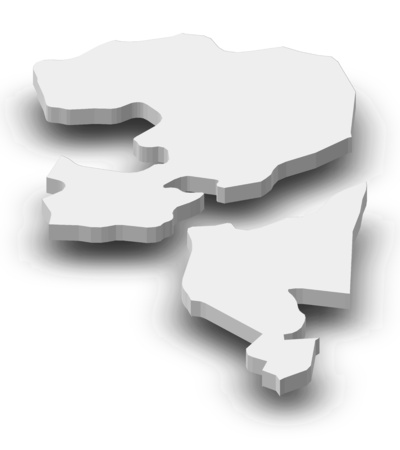 southwestern asia: Map of Fujairah, a province of United Arab Emirates, as a gray piece with shadow.