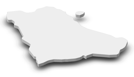Map of Gegharkunik, a province of Armenia, as a gray piece with shadow.