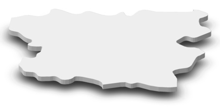 Map of Lori, a province of Armenia, as a gray piece with shadow.
