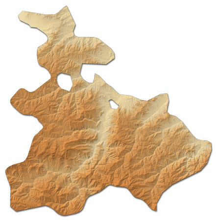 Relief map of Tavush, a province of Armenia, with shaded relief. Stock Photo