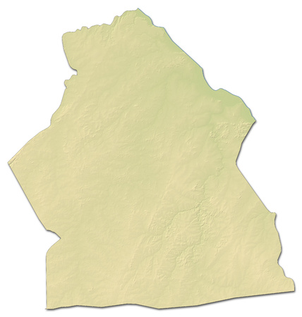 Relief map of Alibori, a province of Benin, with shaded relief.