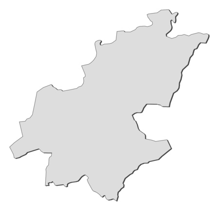 Map of Gauteng, a province of South Africa.