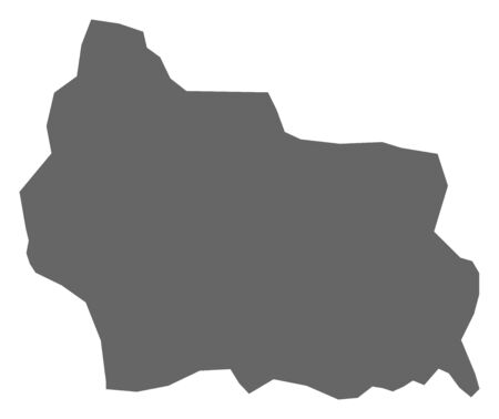 Map of Gabrovo, a province of Bulgaria. 矢量图像