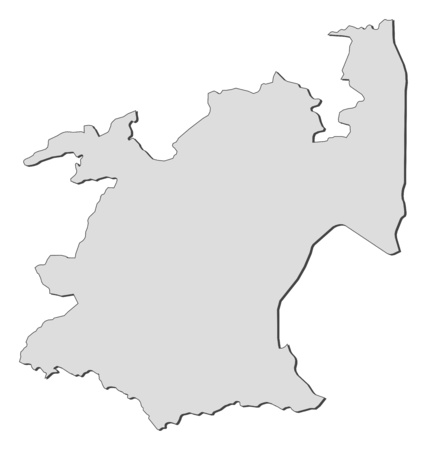 Map of Mpumalanga, a province of South Africa. 矢量图像