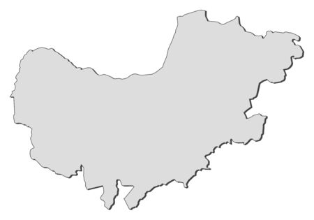 Map of North West, a province of South Africa.