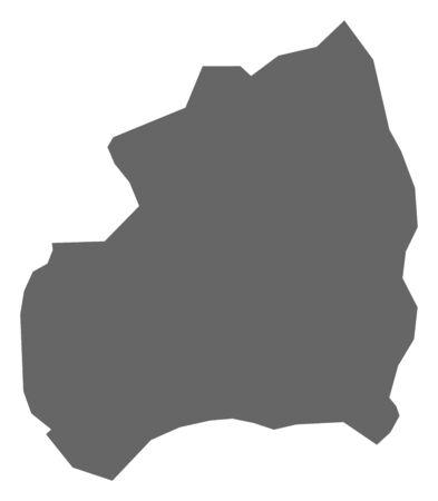 Map of Bubanza, a province of Burundi. 矢量图像