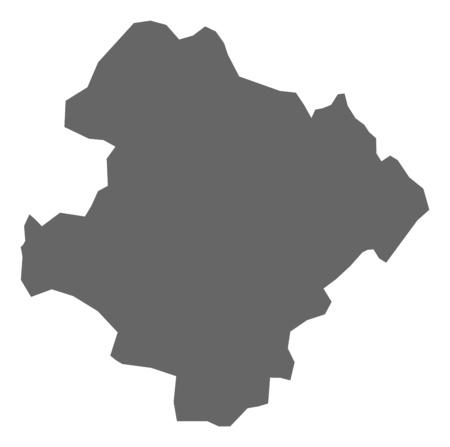 Map of Razgrad, a province of Bulgaria. Illustration