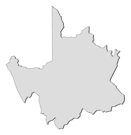 Map of Northern Cape, a province of South Africa.