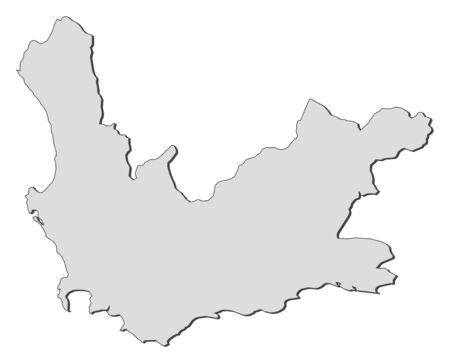 Map of Western Cape, a province of South Africa.