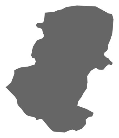 Map of Montana, a province of Bulgaria. Illustration