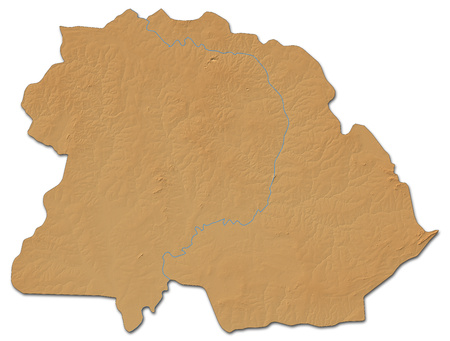shady: Relief map of Copperbelt, a province of Zambia, with shaded relief.