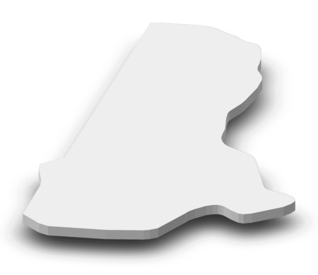 aviv: Map of Tel Aviv, a province of Israel, as a gray piece with shadow.