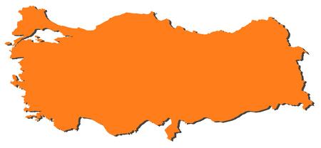 Map of Turkey, filled in orange.