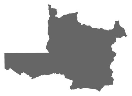 northwestern: Map of North-Western, a province of Zambia.