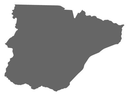 Map of Southern, a province of Zambia.