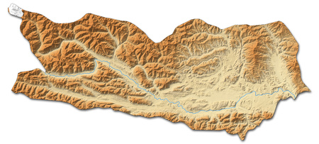 Relief map of Carinthia, a province of Austria, with shaded relief.