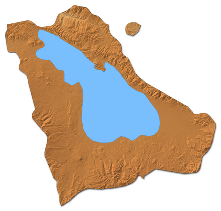 Relief map of Gegharkunik, a province of Armenia, with shaded relief.