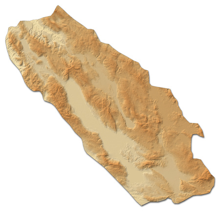 bosna and herzegovina: Relief map of Canton 10, a province of Bosnia and Herzegovina, with shaded relief.