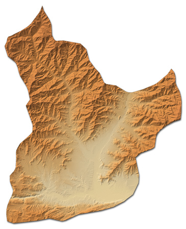 shaded: Relief map of Laghman, a province of Afghanistan, with shaded relief.